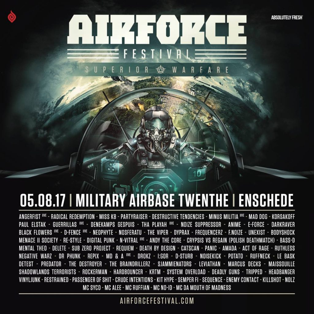 Line up AIRFORCE Festival – Superior Warfare