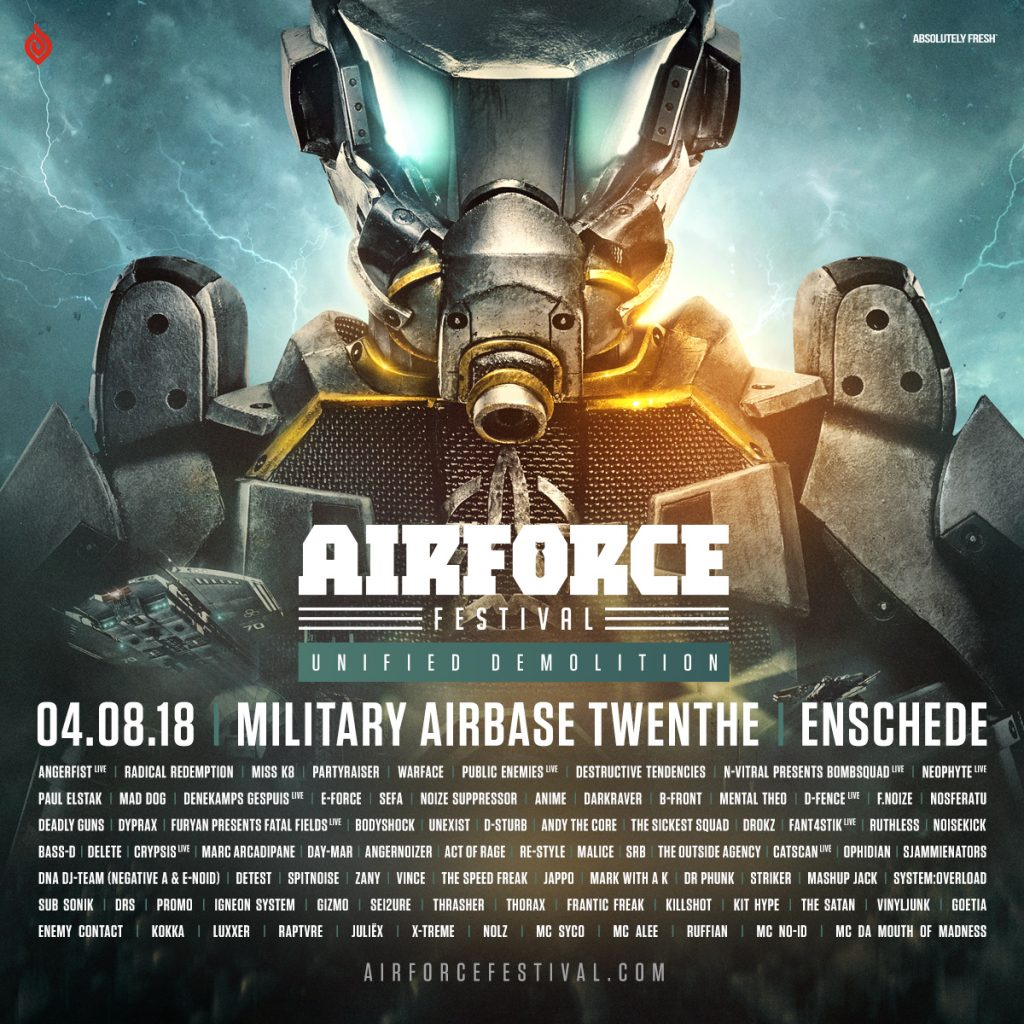 Line-up release AIRFORCE 2018 – Unified Demolition