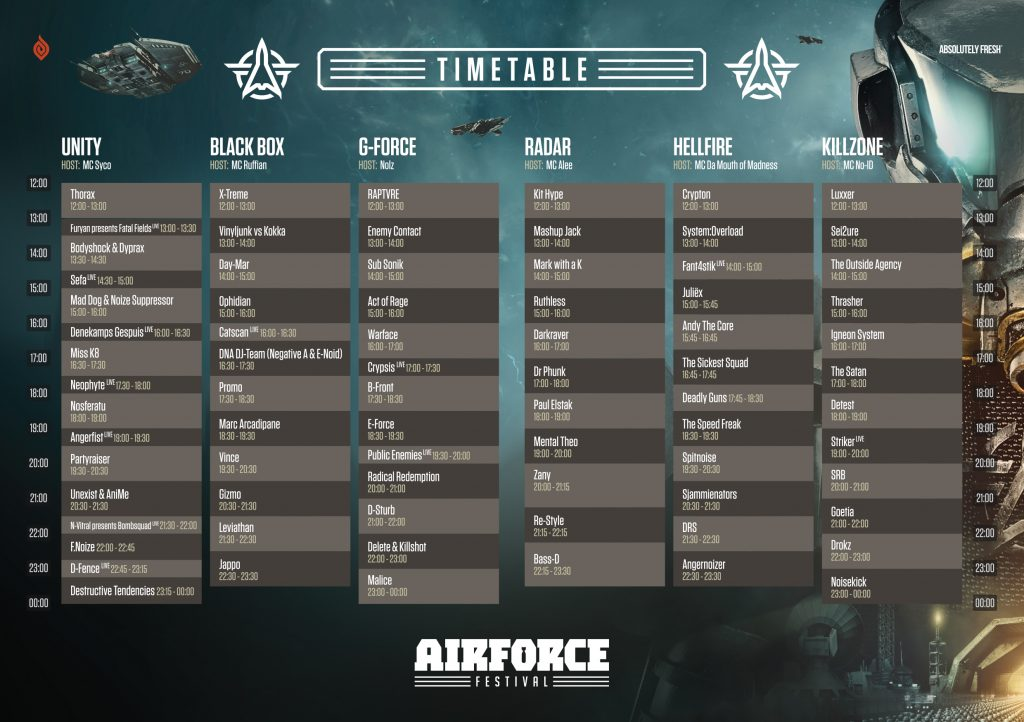 Timetable & floorplan now online!