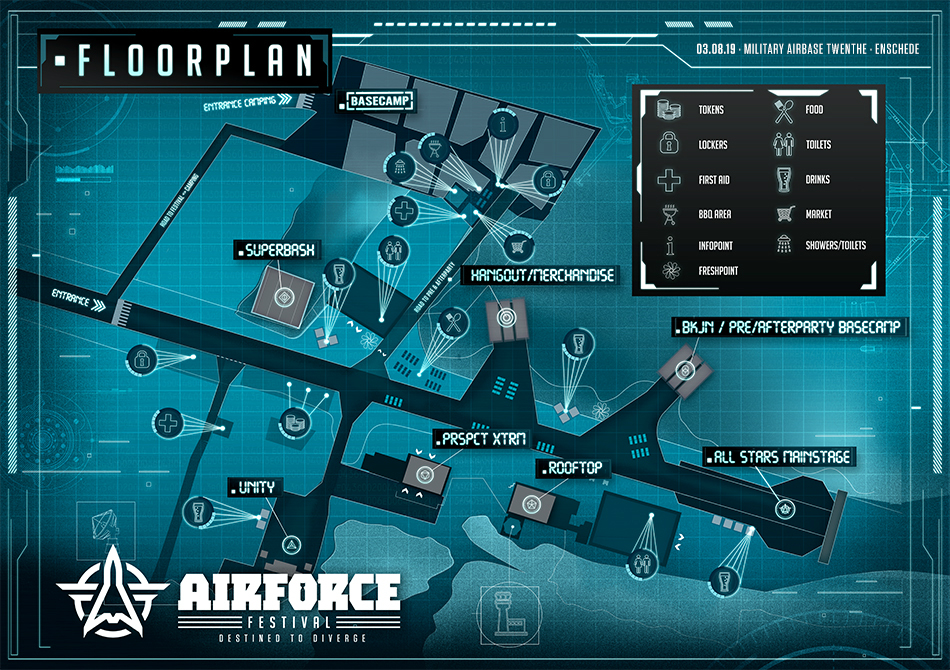 Floorplan – AIRFORCE Festival 2019 – Destined to Diverge